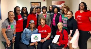 ITO Chapter members celebrate Pink Goes Red and promote healthy hearts