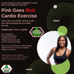 Pink Goes Red Cardio Exercise flyer photo